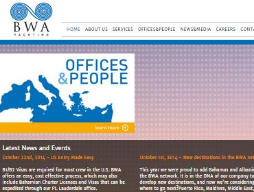BWA Yachting - Yacht agency - Intranet, Applications